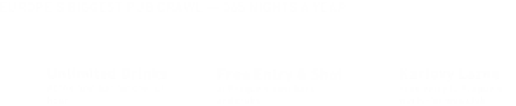 Europe's biggest Pub Crawl — Prague's #1 Nightlife Experience